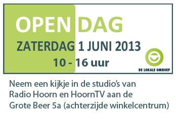 Zaterdag open dag bij Radio Hoorn en HoornTV