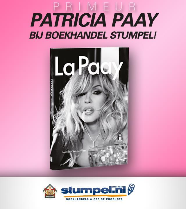 Patricia Paay op 11 mei in boekhandel Stumpel