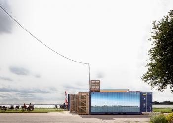 Weer Pop Up Paviljoen op de Westfriese Omringdijk