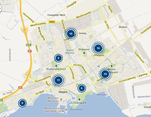Misdaad in kaart: Hoorn 87 meldingen