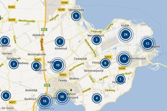 Misdaad in kaart: Medemblik 62 meldingen