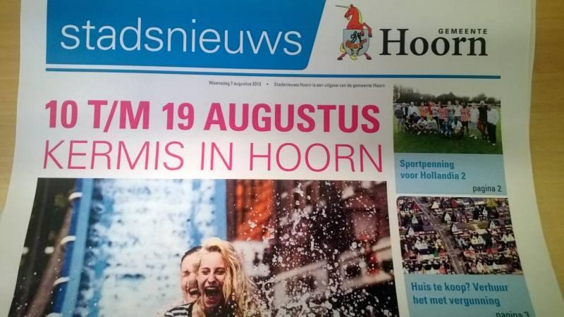 Stadsnieuws Hoorn in 2014 in West-Friesland op zondag