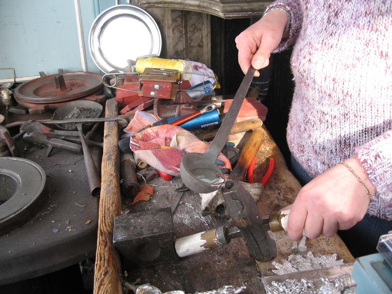 Workshop 'tin gieten' in het Westfries museum