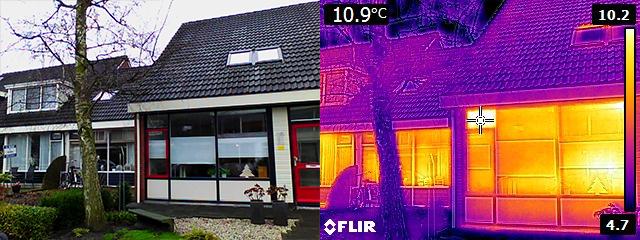Win infraroodfoto tijdens bijeenkomst over energiebesparing