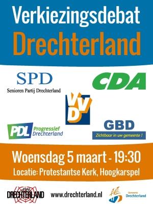 Verkiezingsdebat Drechterland op 5 maart