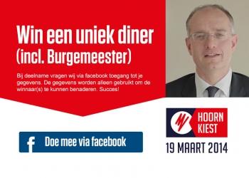 'Nodig vrienden uit om te stemmen en win diner incl Burgemeester'