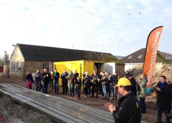 Start bouw clubhuis kanovereniging en reddingsbrigade De Streek
