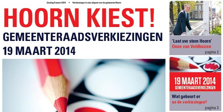 Lees nu al digitaal de Hoornse Verkiezingskrant