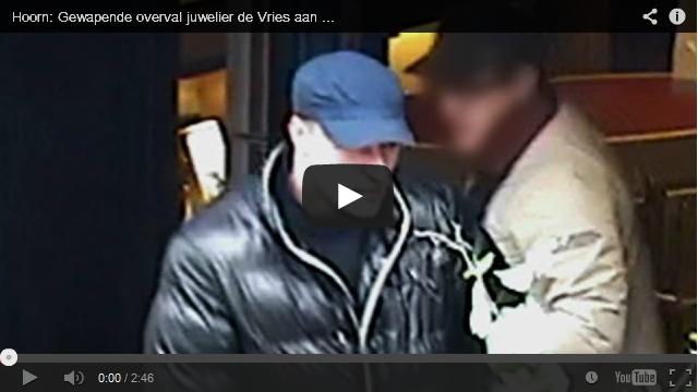 Beelden overval De Vries Juweliers Hoorn