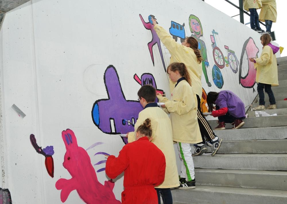Heydenrijk inspireert Pancratiusschool bij versieren spoortunnel