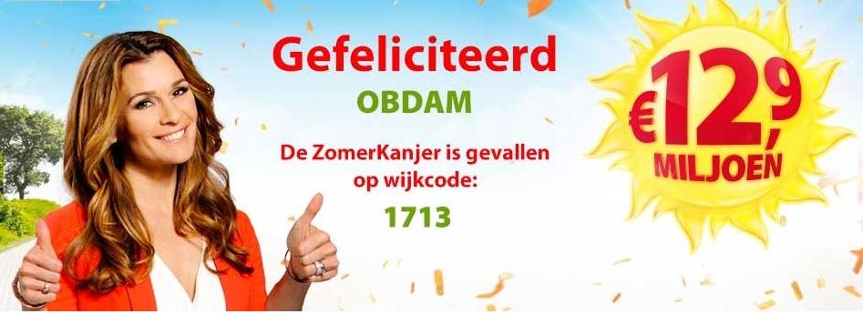 Postcodeloterij verdeelt 12.9 miljoen in Obdam