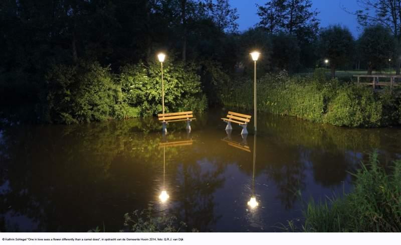 Nieuw kunstwerk verlicht park Het Blokkerse Veld