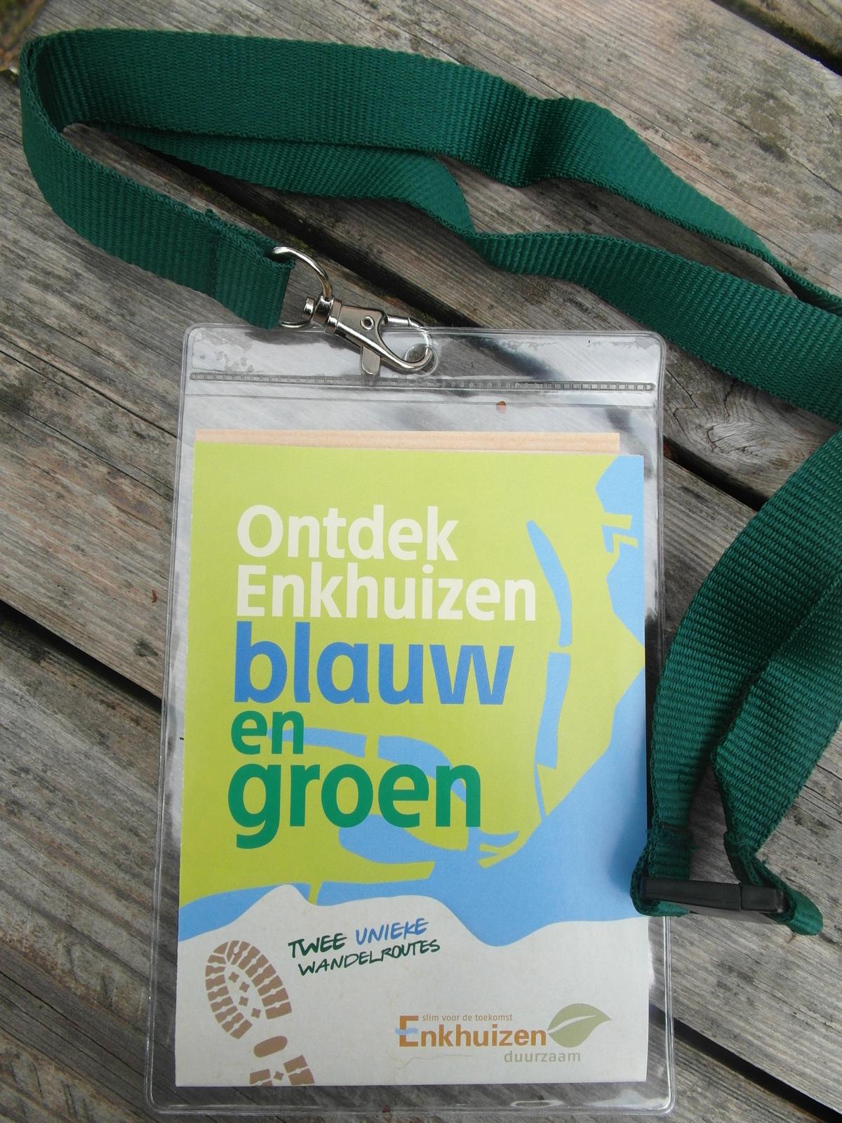 Nieuwe wandelroutes 'Ontdek Enkhuizen Blauw en Groen'