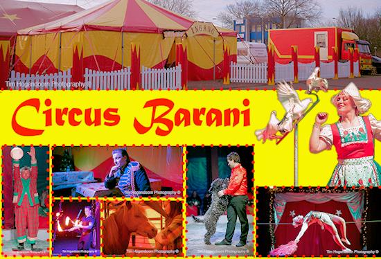 Circus Barani komt op bezoek in Midwoud