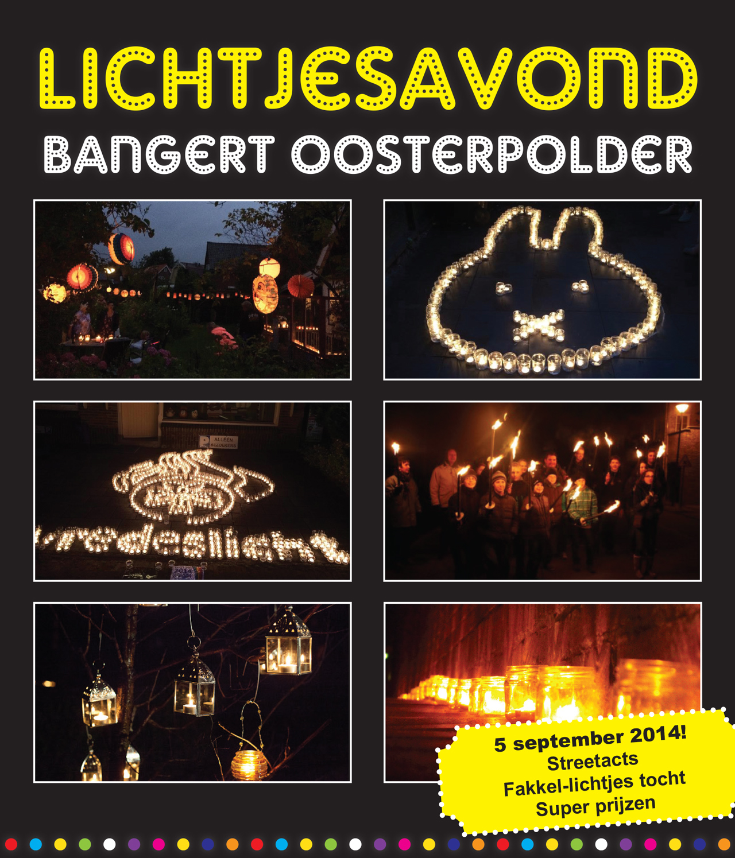 Fakkeltocht en streetacts met lichtjesavond Bangert en Oosterpolder