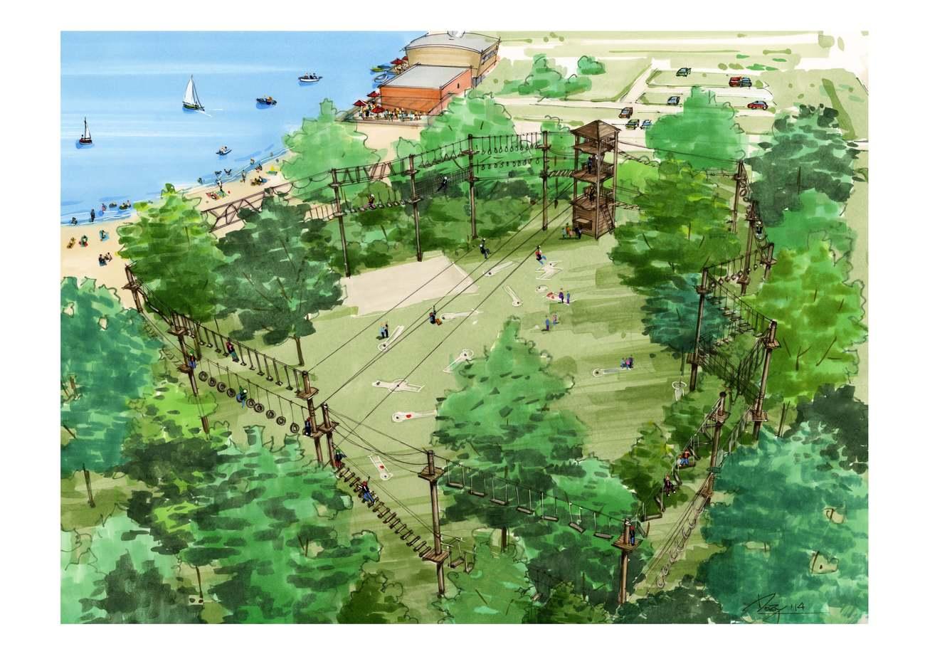 College akkoord met bouw Klimpark in Streekbos