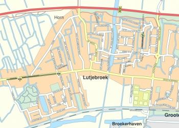 Wegafsluiting met kermis Lutjebroek
