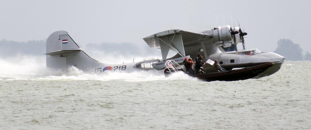 Meevliegen met watervliegtuig 'Catalina' vanaf Hoornse Hop