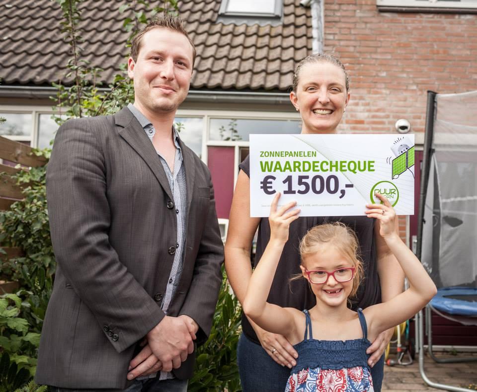 1500 euro aan zonnepanelen voor winnaar bespaartest (update)