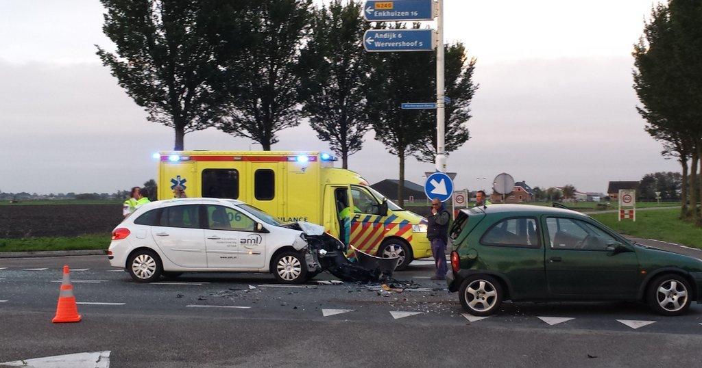 Gewonde bij ongeval Markerwaardweg N204 bij Medemblik
