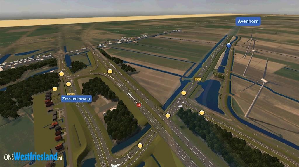 Vogelvlucht over nieuwe N507 naar Alkmaar [video]