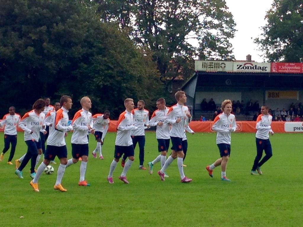 Jong Oranje traint bij Always Forward in Hoorn