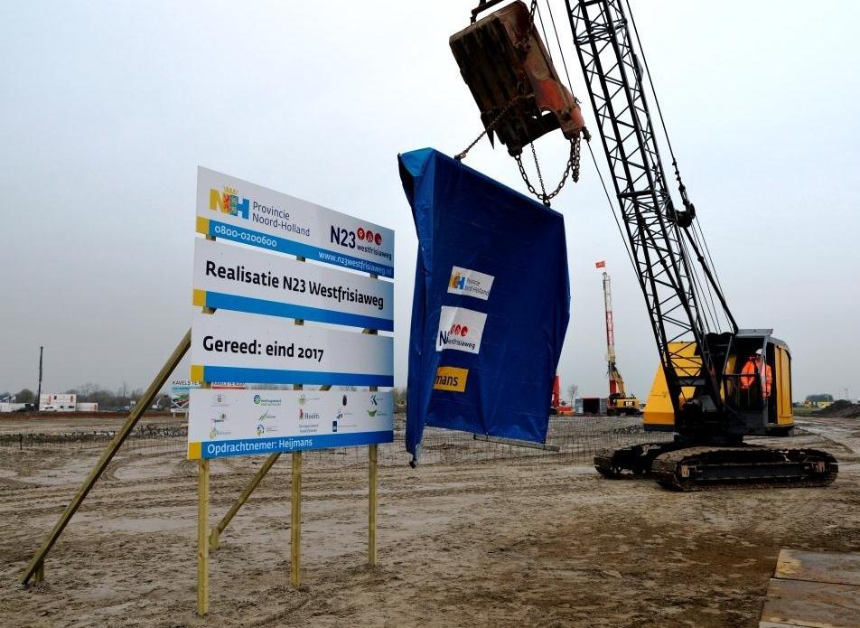 Officiële start werk N23 Westfrisiaweg [+video]