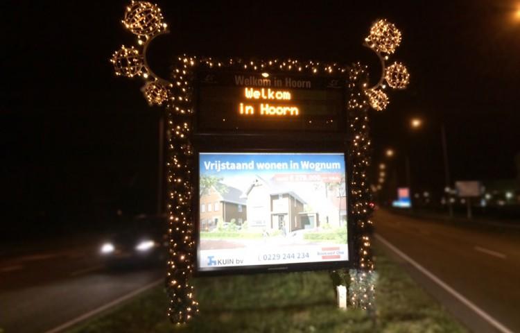Feestelijk en warm welkom met cityboards Hoorn