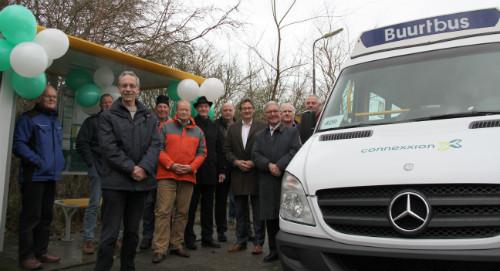 Eerste rit met vrijwilligers Buurtbus 409 in Koggenland