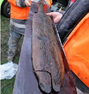 Unieke vondst voor Nederland: Peddel van 3500 jaar oud