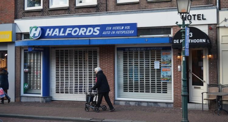 Winkel Halfords Hoorn blijft gesloten