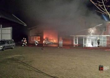 Tonnen schade na brand bij C. Vlaar Benningbroek