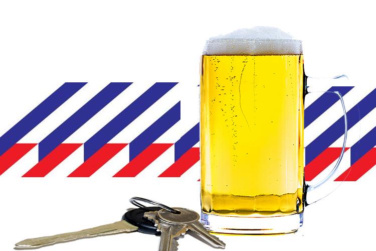 Slingerende dronken bestuurder en alcoholcontroles