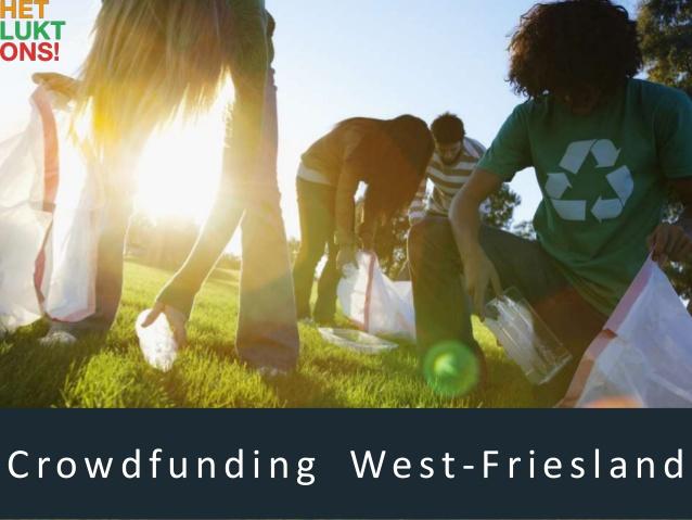 Het lukt Ons; Crowdfunding platform voor Westfriesland