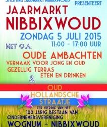 Zondag 5 juli jaarmarkt in Nibbixwoud
