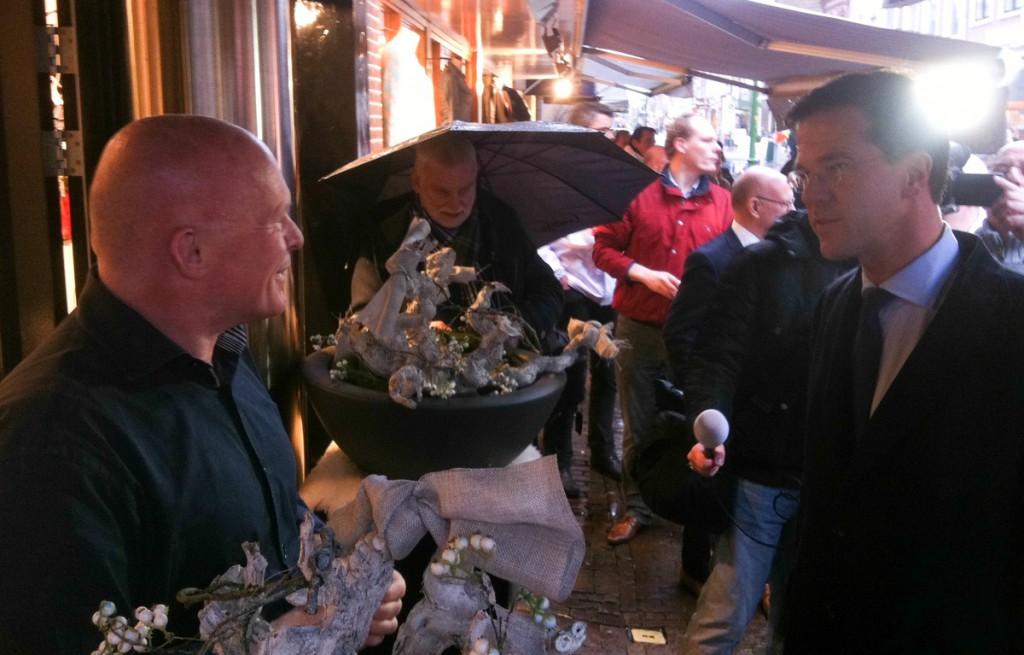 Minister-president Rutte bezoekt Hoorn en Enkhuizen