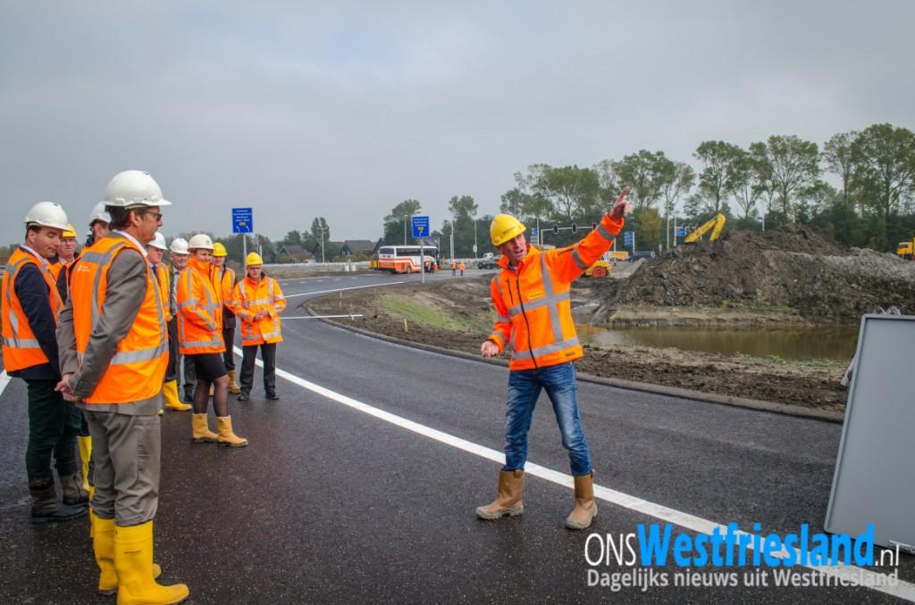 Eerste deel nieuwe N23 Westfrisiaweg maandag in gebruik