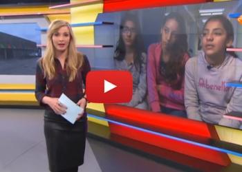 Beelden media van vluchtelingenopvang De Kreek Zwaag