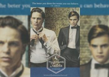 Zet reclame Tillemans Tailors aan tot onfatsoenlijk gedrag?