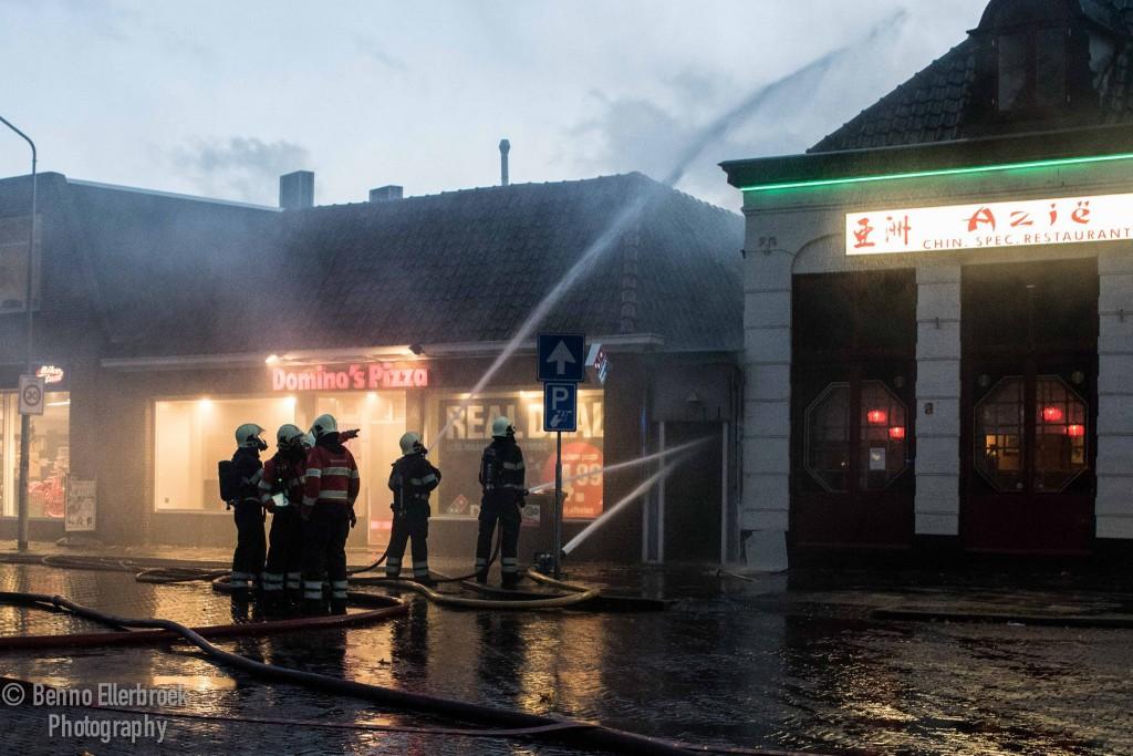 Grote brand in het centrum van Hoorn [video]