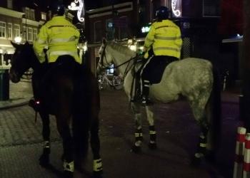 Zaterdagavond inzet politie te paard op Roode Steen