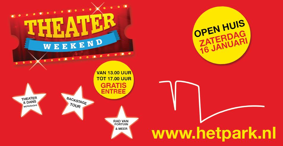 Theaterweekend met open dag bij Schouwburg Het Park