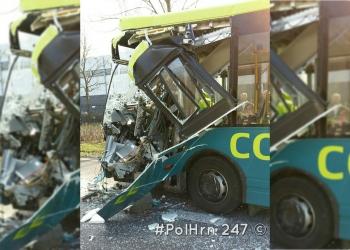 Aanrijding lijnbus en vrachtwagens Hoorn (update+video)