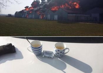 Brand Nibbixwoud door de ogen van politieagenten