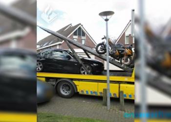 Auto en motor afgepakt van verdachte hennepkwekerij Zwaag