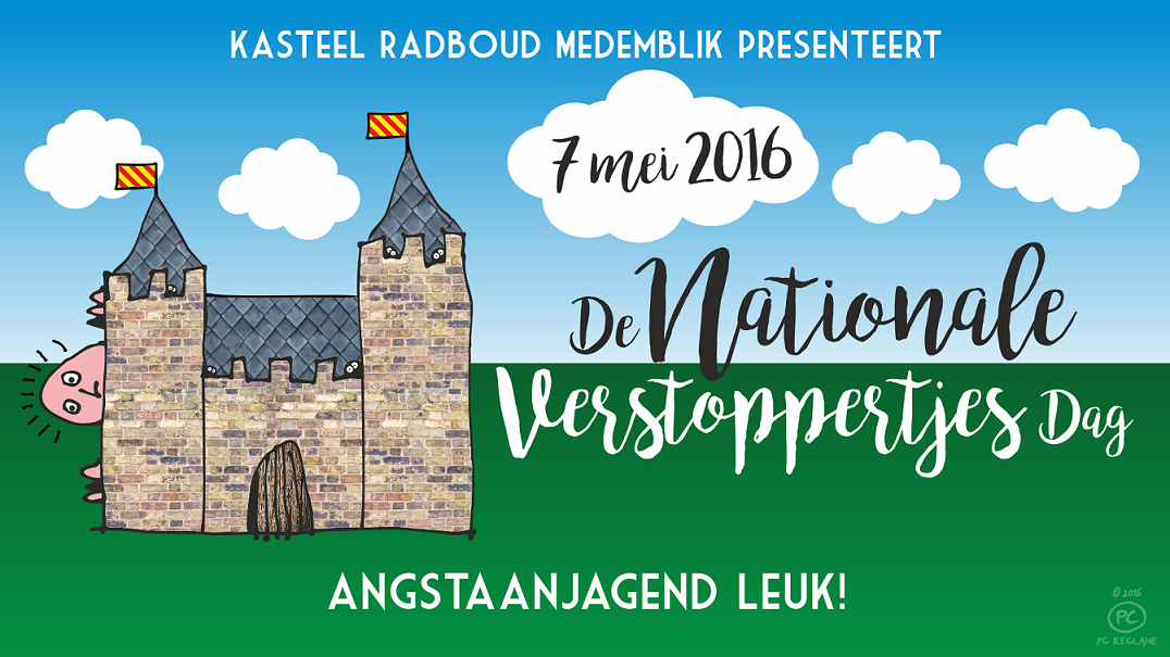 Allereerste Nationale Verstoppertjesdag bij Kasteel Radboud in Medemblik