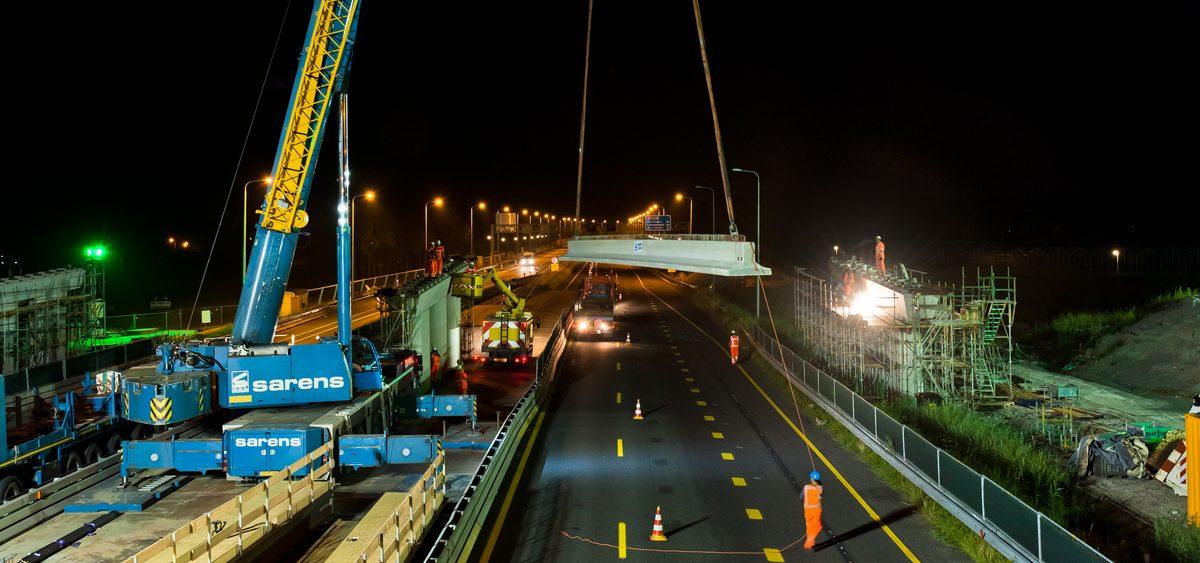 Nachten doorwerken voor tweede viaduct over A7 bij Hoorn Noord