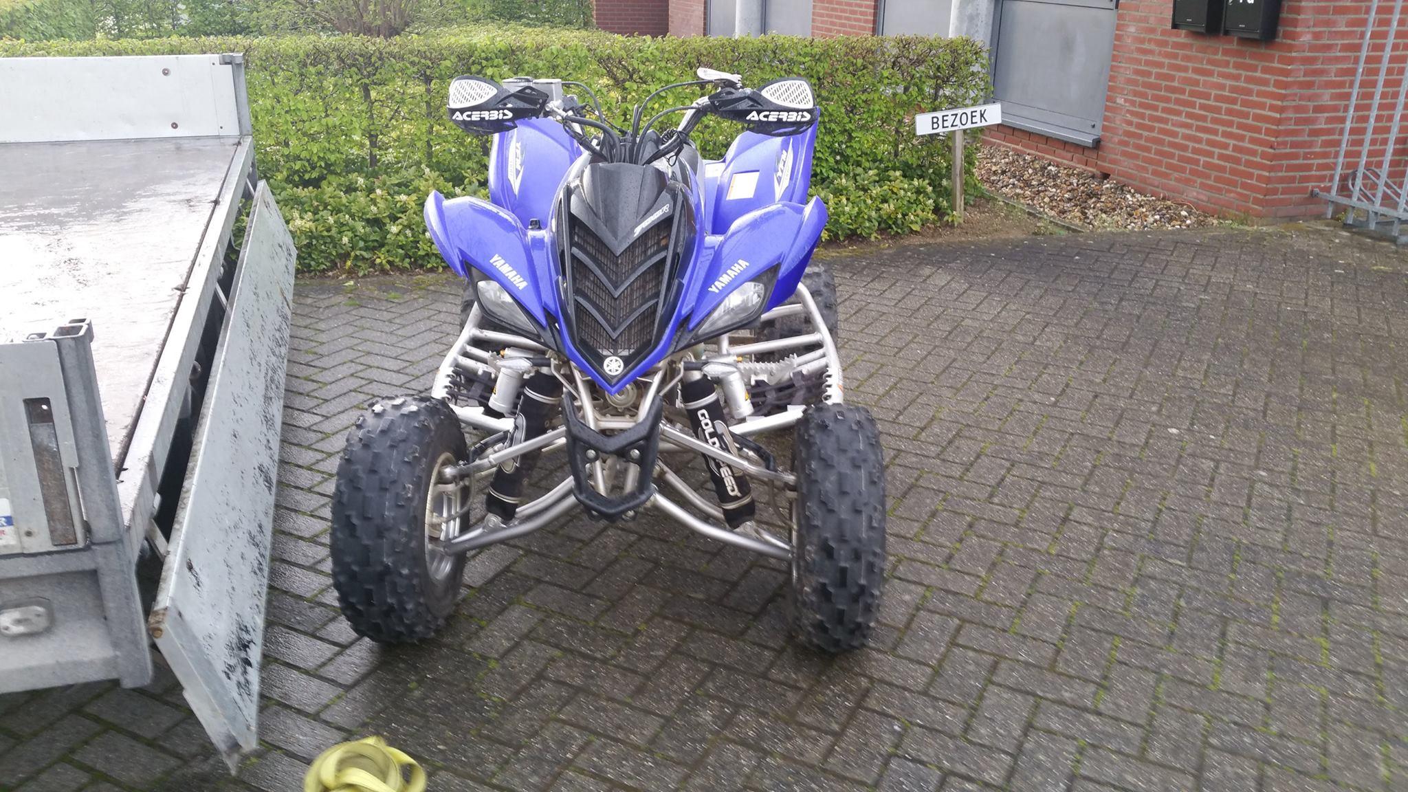 Yamaha Raptor quad gestolen uit schuur woning Stoelenmatter in Hoorn