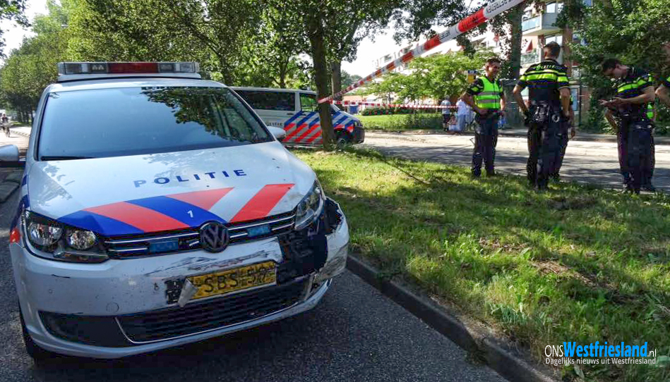 Duo na achtervolging aangehouden op De Weel in Hoorn