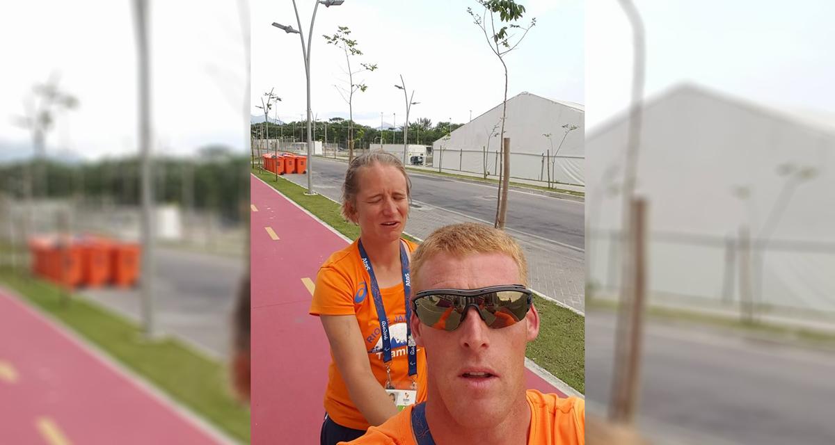 Geert Schipper in Rio; Paralympische gedachte: iedereen helpt elkaar